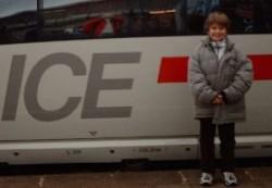 Die erste ICE-Fahrt - noch ein Abenteuer