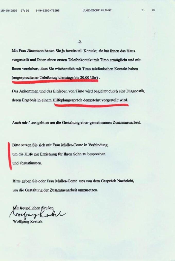 Fax Wolfgang Krettek Seite 2