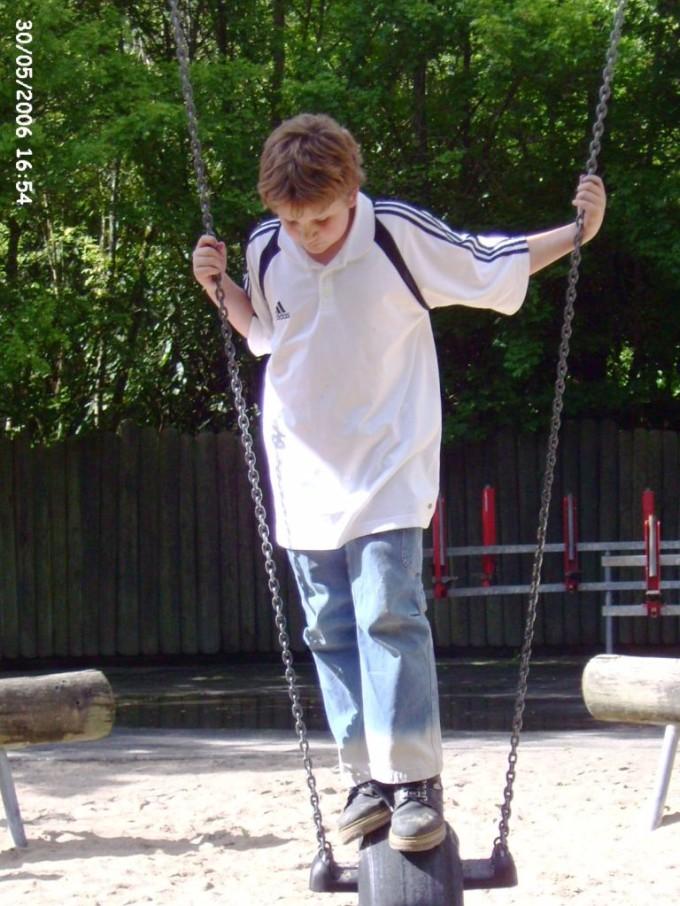 Timo am 30.05.2006 auf dem Klinge-Spielplatz