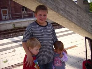 Abschied am Bahnhof in Seckach