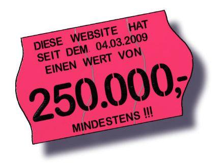250.000 Euro – Mindestens