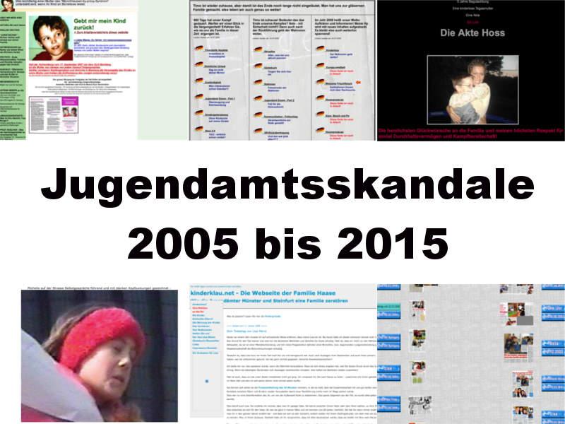 Jugendamtsskandale 2005 bis 2015