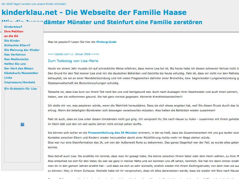 Kinderklau Familie Conny Haase